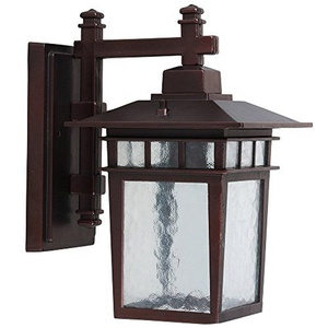 Y Decor EL2072SDIORB Modern, Transitional, Traditional Oil Rubbed Bronze Exterior Outdoor Light Fixture with Clear Water Glass Small, , Oil Rubbed Bronze Brown by Y Decor