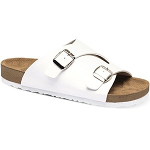 New SNRD Women Casual Stylish Fashion Comfort Slide Sandals Summer Shoes (6, White)