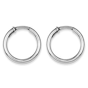 .925 Sterling Silver 27 MM Polished Endless Hoop Earrings