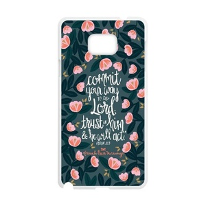 [Luo diedie]Call Phone Case for Samsung Galaxy note 5 White with Bible Verse Christian Quotes Series of Pattern on
