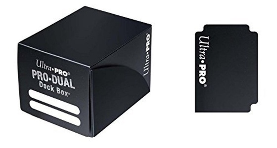 Pro Dual Deck Box (Black) by Black Pro Dual Deck Box (120 Cards)