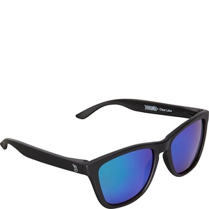 BlobFish Sunglasses Clear Lake Polarized Sunglasses (Matte Black/Aquamarine)