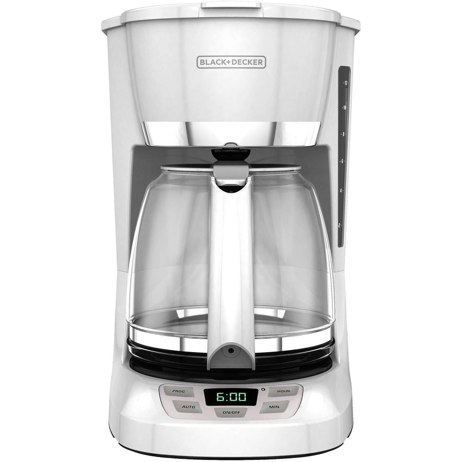 Black and decker 12 cup programmable - New Black Decker 12 Cup Programmable Coffee Maker Quick Touch White