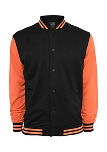 Urban Classics Neon College Transition Coatt Black by Urban Classics