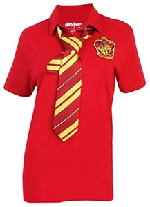Harry Potter Gryffindor Polo with Tie Red Large