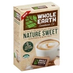 Whole Earth Nature Sweet With Stevia & Monk Fruit Sweetener 5.6 oz (80 packets)