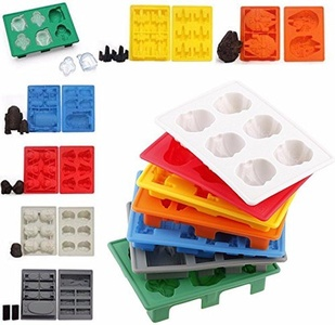 LeaningTech 7pcs/set Star Wars Ice TraySilicone Mold Ice Cube Tray Chocolate Fondant