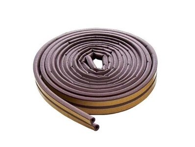 M-d Products 17ft. Brown Extreme Temperature D-Profile Weather Stripping 63602 by M-d Products