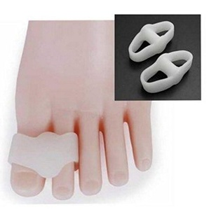 Silicone Toe Valgus Separators 2 Holes Straighteners Bunion Health Care Relief by MarbellStore