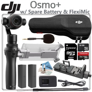 DJI OSMO Plus Starters Bundle - Includes Spare Osmo High Capacity Battery & 32GB MicroSD Memory Card