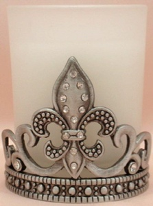 Fleur de Lis Votive Candleholder