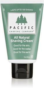 Pacific Shaving Company All Natural Shaving Cream 3 oz (Pack of 3) by Pacific Shaving Company