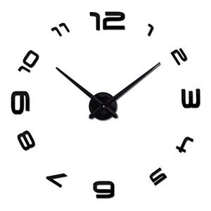 Home decorations quartz modern wall clock clocks watch horloge 3d diy acrylic mirror stickers