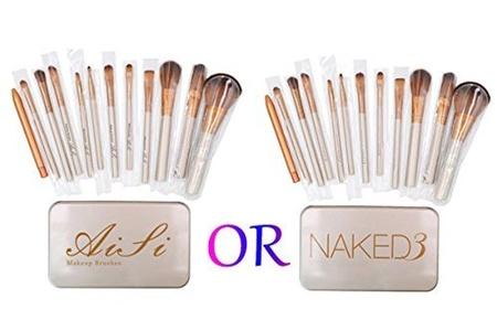 AiSi 12 Pcs Bamboo Handle Makeup Brushes Kabuki Powder Foundation blusher Cosmetic Brushes With Box(Logo Ramdom) by AiSi