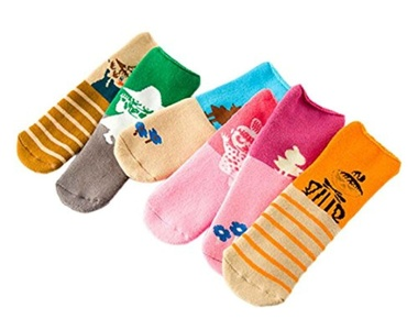Happy Cherry Baby Toddler Cartoon Cotton Socks Warm Terry Socks Pack of 6