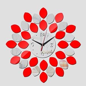 Fashion Clock Wall Clocks Watch Diy 3d Acrylic Mirror sticker Home Decoration