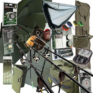 Deluxe Complete Full Carp Fishing Set up With Rods Reels Alarms Tackle & Bait by Carp-Corner