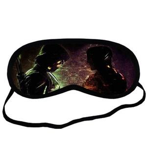 Custom Green Arrow Sleeping Mask, Comfortable Soft Cotton Sleeping Aids Eye Mask Cover Travel & Work Rest