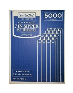 Daily Chefs Sipper Stirrers - 7in/5000ct by Daily Chef