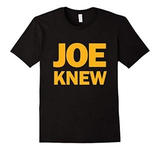 Men's Joe Knew Tshirt yellow Gift Large Black