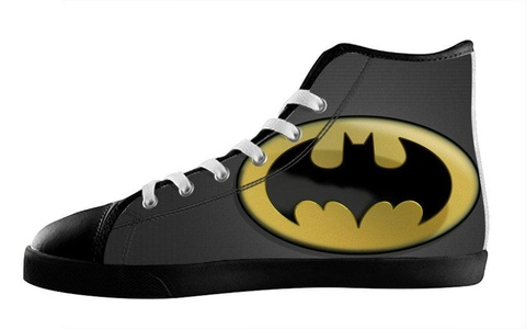 Custom High Top Sneakers Lace Up Batman Individualized Design Canvas For Men's Shoes-8M(US)