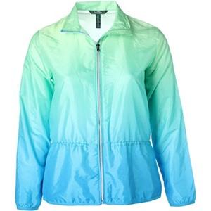 L-RL Lauren Active Womens Microfiber Ombre Jacket Green L