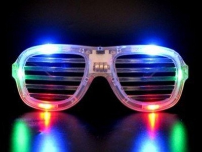 Clear LED Slotted Sunglasses Great for Raves or Parties by Rave-EyesTM