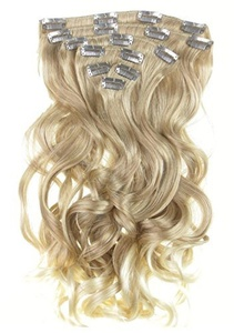 New Style Real Look Hair Extension Strawberry Blond Nordic Blonde Mix With Light Blonde Tips Wavy 24 Inch X Long Ombre Style by Vanessa Grey Hair Designs