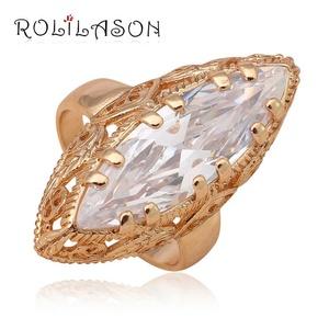 Cherryn Jewelry Australia White Zirconia Brand Gold Plated Nickel Lead Fashion Jewelry Crystal Ring USA Sz 7 8 9 JR2025