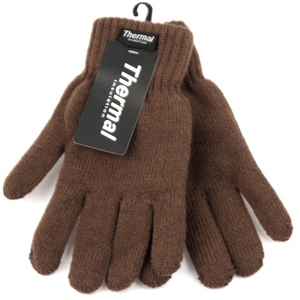 Mens Thermal Insulated Lined Winter Gloves (BROWN)