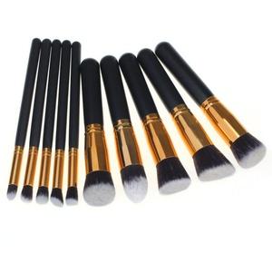 NOMENI 10PCS/1Set Cosmetic Makeup Brush Brushes Set Foundation Powder Eyeshadow (Gold)