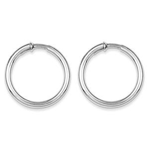 .925 Sterling Silver 31 MM Polished Endless Hoop Earrings