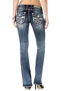 ROCK REVIVAL WOMEN'S STACEYA B201 BOOT CUT JEANS (Waist 25 Length 34)
