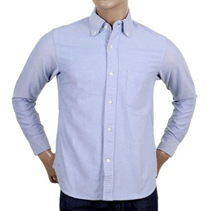 Made In USA Oxford Shirt In Blue By Sugar Cane CANE4447