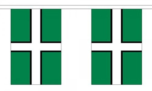 Devon Bunting 9M Metre Length With 30 Flags 9X6 100% Woven Polyester by Djibouti