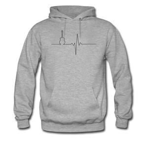 Guitar heart For women Printed Sweatshirt Pullover Hoody