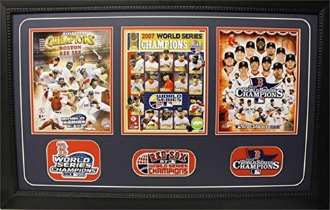 Encore Select 360-06 15 x 35 Three Photo Patch Frame - Boston Red Sox Champions