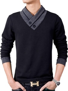 S&S Men's Casual Cross V-neck Button Comfort Colors Long Sleeve Pullover Jersey Sweatshirts