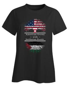 American Grown With Jordanian Roots Jordan Great Gifts - Ladies T-shirt