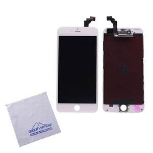 White Touch Screen Digitizer + LCD Assembly For Apple iPhone 6 Plus 5.5 A1522 10-PACK by Group Vertical