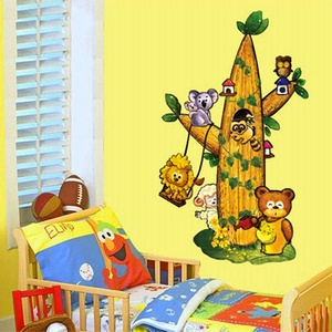 Cartoon Tree Wall Stickers Children Room Home Decor Baby Adhesive for Kids Room