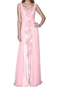Audrey Bride Romantic Bridesmaid Dresses Long Evening Dresses Floor Length-17W-Pink