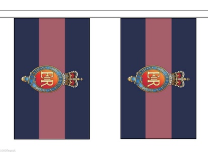 British Army Household Cavalry Regiment Material String Flag / Bunting 5m (16') Long With 14 Flags