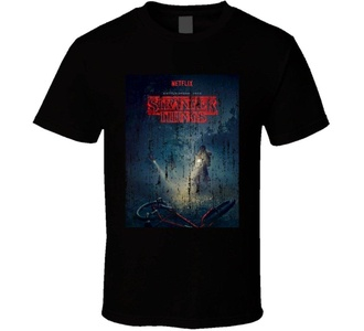 Stranger Things Poster Netflix TV Series Weathered T Shirt 2XL Black