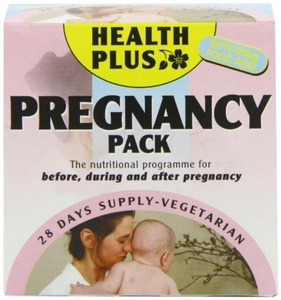 Health Plus Pregnancy Pack Women's Health Daily Supplement - 28 Day Supply by Health Plus