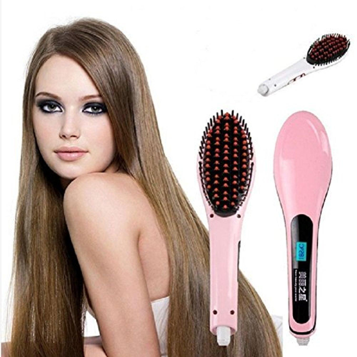 Straight Hair Electric Anti Hot Hair Straightener negative ion Ceramic Plymouths Bangs Curling Irons Hair Straight Comb