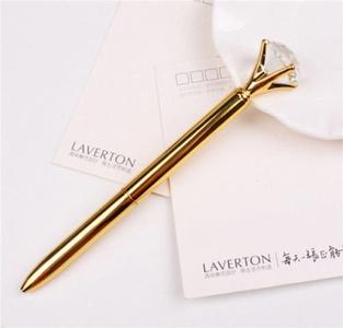 Party Crystal Diamond Head Crystal Ball Concert Creative Pen Creative Pen Gold