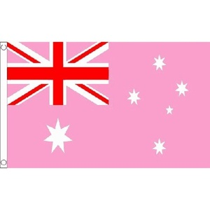 Australia Pink Ensign Flag 5Ft X 3Ft Australian Banner With 2 Metal Eyelets New by Australia Pink Ensign