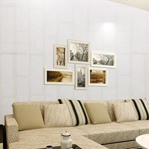 Homdox Wallpaper, Modern Non-Woven 3D Brick Pattern Wallpaper, Home Decor Wallpaper for Living room, Bedroom and TV Background (type4 white)