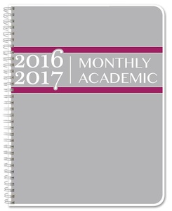 BookFactory 2016-2017 Academic Planner / Academic Calendar / Organizer [Wire-O Bound] (Academic-Planners-SIZE-COLOR-MAIN)